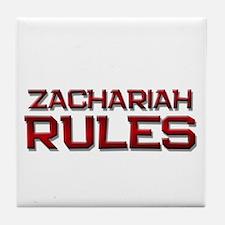 zachariah rules Tile Coaster