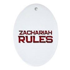zachariah rules Oval Ornament
