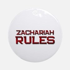 zachariah rules Ornament (Round)