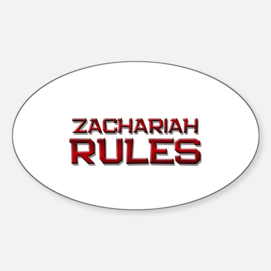 zachariah rules Oval Decal