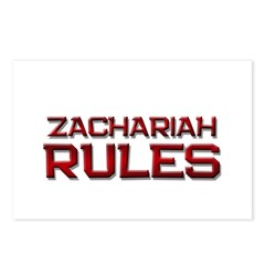 zachariah rules Postcards (Package of 8)