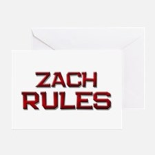 zach rules Greeting Card