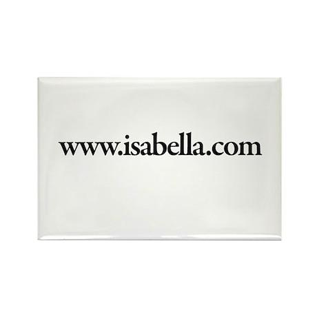 www.Isabella.com Rectangle Magnet