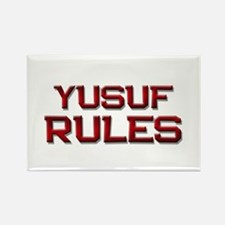 yusuf rules Rectangle Magnet