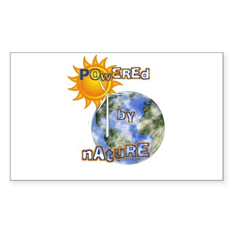 Powered By Nature Rectangle Sticker