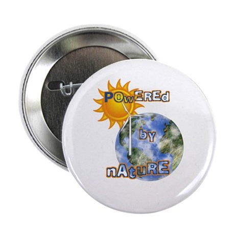 """Powered By Nature 2.25"""" Button (100 pack)"""