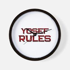yosef rules Wall Clock