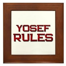 yosef rules Framed Tile