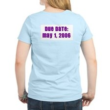 """""""This Pooch is a girl!"""" May 1 EDD- Pink T-Shirt"""