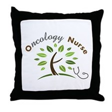 Oncology Nurse Throw Pillow