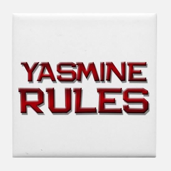 yasmine rules Tile Coaster