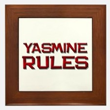 yasmine rules Framed Tile