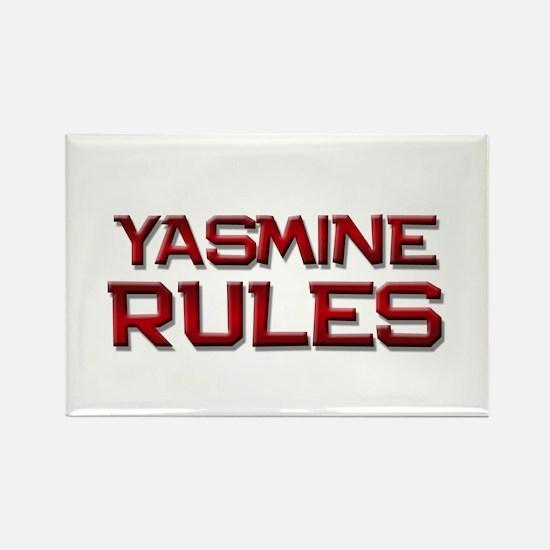 yasmine rules Rectangle Magnet