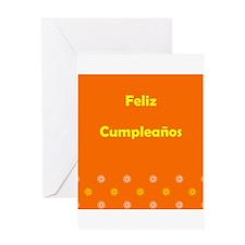 Feliz Cumpleanos Happy Birthday Greeting Card