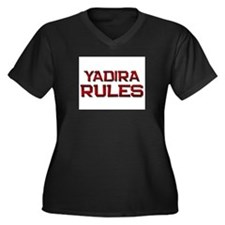 yadira rules Women's Plus Size V-Neck Dark T-Shirt