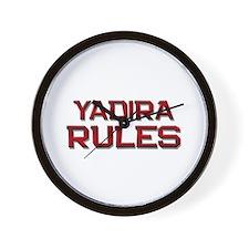 yadira rules Wall Clock