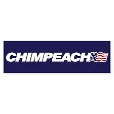 CHIMPEACH Bumper Bumper Sticker