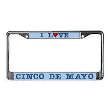 I Love Heart Cinco De Mayo License Plate Frame