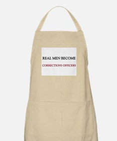Real Men Become Corrections Officers BBQ Apron