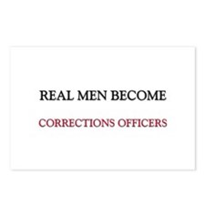 Real Men Become Corrections Officers Postcards (Pa