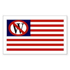 Anti-Bush American Flag bumper sticker