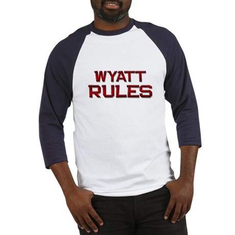 wyatt rules Baseball Jersey