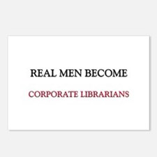 Real Men Become Corporate Librarians Postcards (Pa