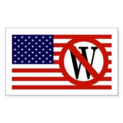 Anti-Bush American Flag bumper sticker