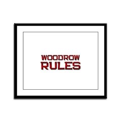 woodrow rules Framed Panel Print