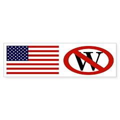 American Flag and Red Slash Through W