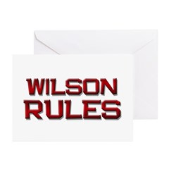 wilson rules Greeting Cards (Pk of 20)