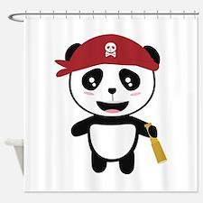 Panda Pirate with spyglass Ci5wy Shower Curtain