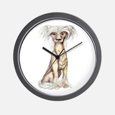 Chinese Crested Hairless Wall Clock