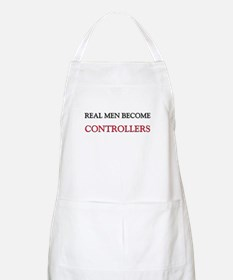 Real Men Become Controllers BBQ Apron