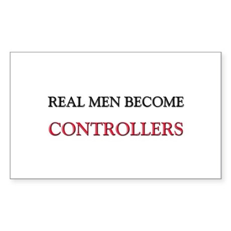 Real Men Become Controllers Rectangle Sticker