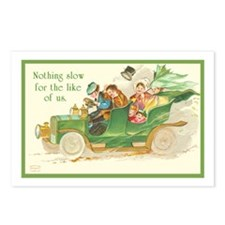Green Irish Automobile Postcards (Package of 8)