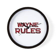 wayne rules Wall Clock