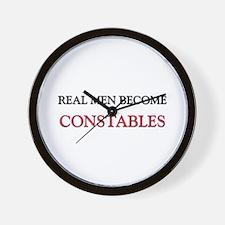 Real Men Become Constables Wall Clock