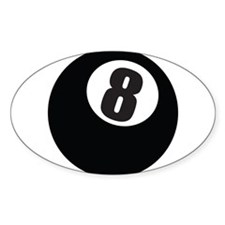 8 Ball Oval Decal