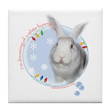 Cute House rabbits Tile Coaster
