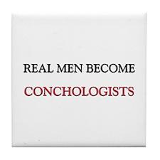 Real Men Become Conductors Tile Coaster