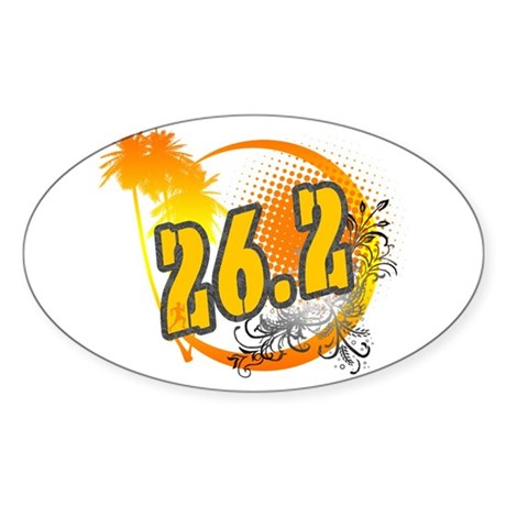 26.2 Tropical Oval Sticker