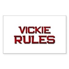 vickie rules Rectangle Decal