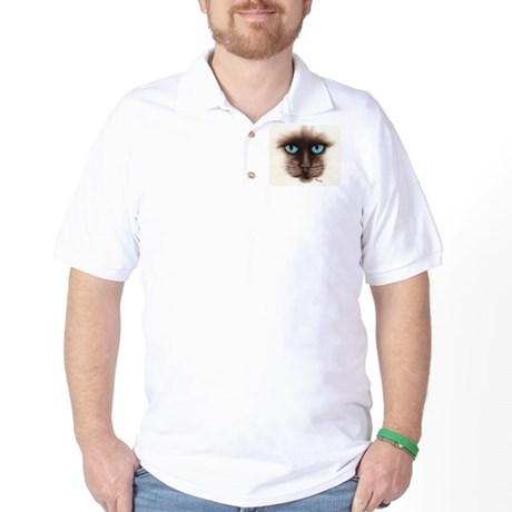 A Siamese Face Golf Shirt