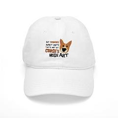 Corgi Nose Art Baseball Cap