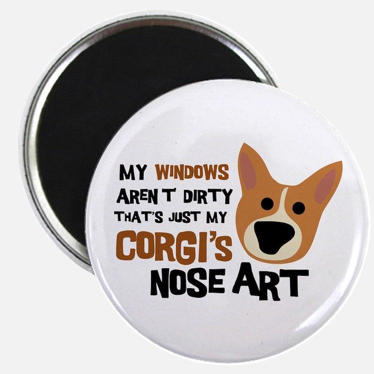 "Corgi Nose Art 2.25"" Magnet (10 pack)"