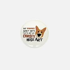 Corgi Nose Art Mini Button (10 pack)