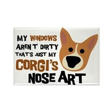 Corgi Nose Art Rectangle Magnet
