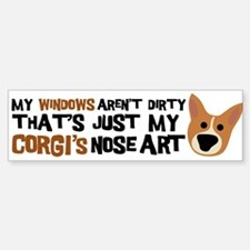 Corgi Nose Art Bumper Car Car Sticker