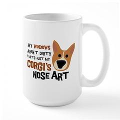 Corgi Nose Art Large Mug